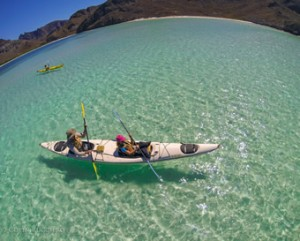 Kayaking the clear waters of a Baja bay