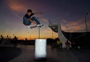 Carlos Maidel in flight.
