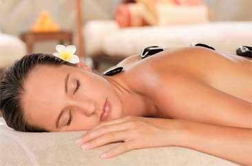 White sand massage
